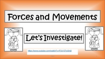Forces and Movement for Young Scientists -Tutorial, Tasks and Activities