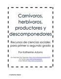 Science Freebie: Carnívoros, herbívoros, productores y des