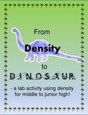 Science - From Density to Dinosaur - a lesson on density