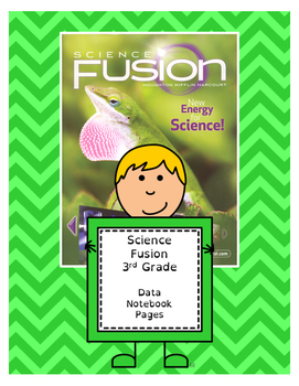 Science Fusion 3rd Grade Data Notebook (2 pages)
