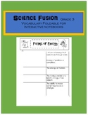 Science Fusion 3rd Grade Interative Notebook Foldable