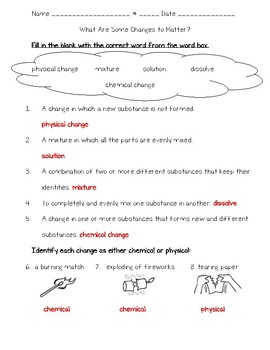 Science Fusion 3rd Grade Unit 9 Lesson 4 - What Are Some Changes to Matter?