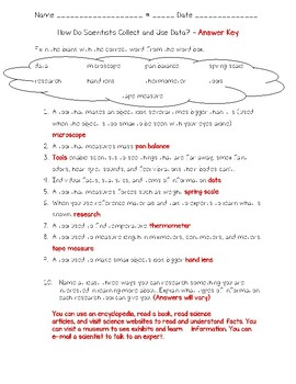 Science Fusion - 4th Gr - Unit 1-Lesson 3-How Do Scientists Collect and Use Data