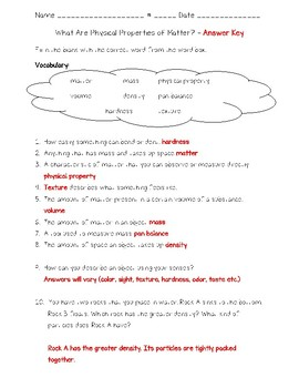 Science Fusion 4th Gr Unit 7 Lesson 1- What Are Physical Properties of Matter?