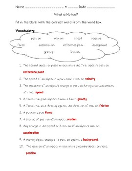 Science Fusion - 4th Grade - Unit 11 - Lesson 1 - What is Motion?