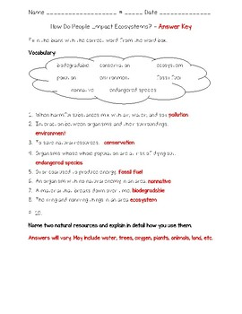 Science Fusion - 4th Grade Unit 4 - Lesson 5 - How Do People Impact Ecosystems?