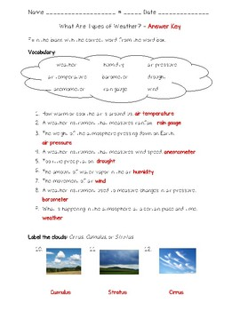 Science Fusion - 4th Grade - Unit 5 - Lesson 2 - What Are Types of Weather?