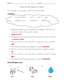 Science Fusion - 4th Grade - Unit 7 - Lesson 4 - What Are the States of Water?