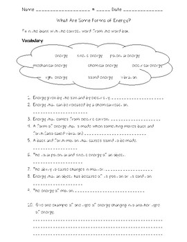 Science Fusion First Grade Worksheets & Teaching Resources | TpT