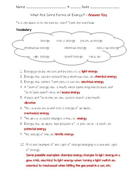 Science Fusion - 4th Grade - Unit 9 - Lesson 1 - What Are Some Forms of Energy?
