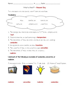 Science Fusion - 4th Grade - Unit 9 - Lesson 3 - What is Heat?
