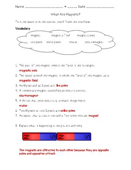 Science Fusion - 4th Grade - What Are Magnets?