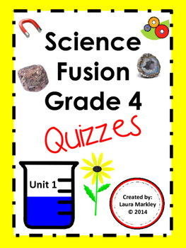 Science Fusion 4th grade Science Printables Unit 1 - FREE