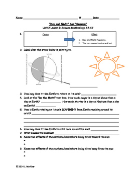 Science 4th grade Printables Units 2 - 5