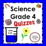 Science 4th grade Printables Units 6 - 10