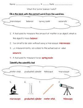Science Fusion 5th Gr Unit 1 Lesson 5 - What Are Some Science Tools?