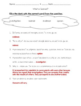 Science Fusion 5th Grade Unit 1 Lesson 1 - What is Science?