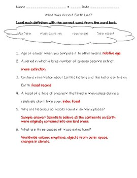 Science Fusion 5th Grade Unit 10 Lesson 2 - What Was Ancient Earth Like?