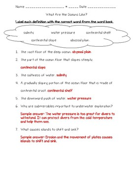 Science Fusion 5th Grade Unit 11 Lesson 1 - What Are the Oceans Like?