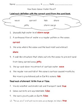 Science Fusion 5th Grade Unit 11 Lesson 2 - How Does Ocean Water Move?