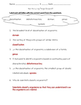 Science Fusion 5th Grade Unit 4 Lesson 1 - How Are Living Things Grouped?