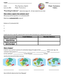 Science Fusion 8th Gr - The Dynamic Earth - The Restless Earth: PLATE TECTONICS