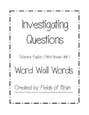 Science Fusion Grade 3 Unit 1 Word Wall Words