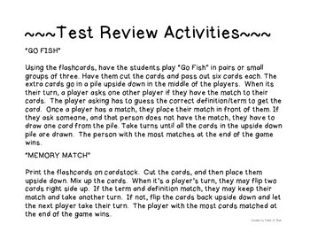 Science Fusion Grade 3 Unit 3 Test Review Activities {FREEBIE}