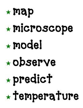 Science Fusion Grade 3 Vocabulary