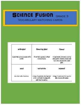 Science Fusion Grade 3 Vocabulary Matching