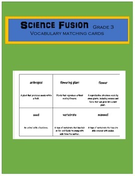 Science Fusion Grade 3 Vocabulary Matching