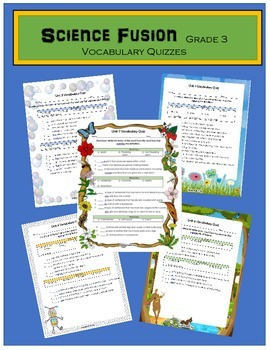 Science Fusion Grade 3 Vocabulary Quizzes