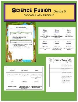 Science Fusion Grade 3 Vocabulary Bundle