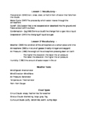 Science Fusion Grade 4 Unit 5- Weather Study Guide (Lessons 1-3)