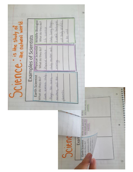 Science Fusion 4th Grade Interactive Notebook Unit 1 (Studying Science)