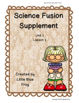 Science Fusion Supplement 4th grade Unit 1 Lesson 1