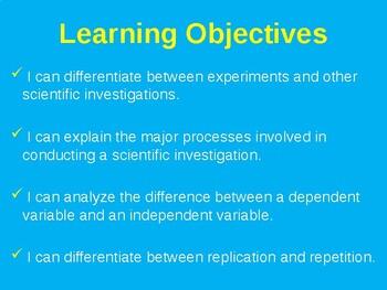 Science Fusion Unit 1, Lesson 2 Scientific Investigations notes