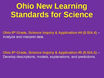 Science Fusion Unit 1, Lesson 3 Representing Data notes