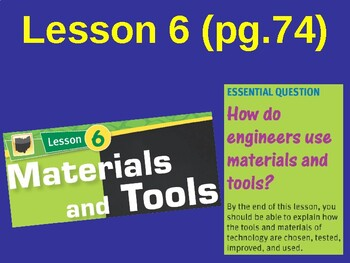 Science Fusion Unit 1, Lesson 6 Materials and Tools notes