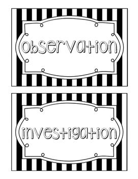 Science Fusion Unit 1 Vocabulary - 4th Grade