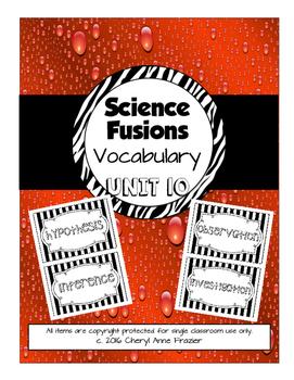 Science Fusion Unit 10 Vocabulary - 4th Grade