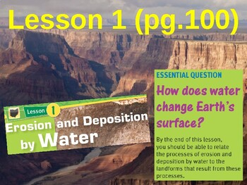 Science Fusion Unit 2, Lesson 1 Erosion & Deposition by Water notes