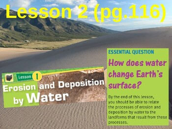 Science Fusion Unit 2, Lesson 2 Erosion & Deposition by Wind, Ice, Gravity notes