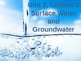 Science Fusion Unit 2, Lesson 3: Surface Water and Groundw