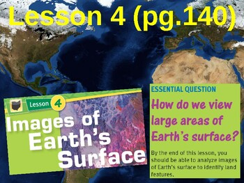 Science Fusion Unit 2, Lesson 4 Images of Earth's Surface notes