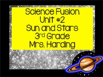 Science Fusion Unit 2 Sun and Stars 3rd grade Powerpoint