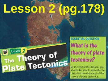 Science Fusion Unit 3, Lesson 2 The Theory of Plate Tectonics notes
