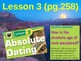 Science Fusion Unit 4, Lesson 3 Absolute Dating notes