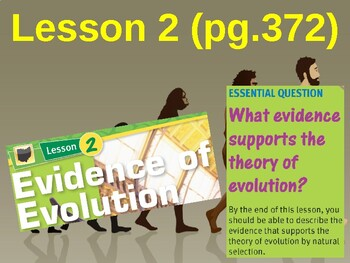 Science Fusion Unit 6, Lesson 2 Evidence of Evolution notes