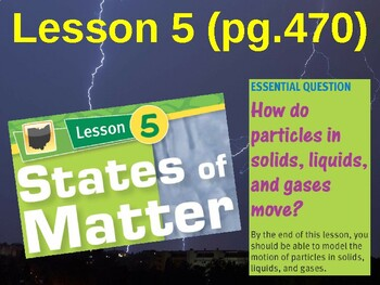 Science Fusion Unit 6, Lesson 5 States of Matter notes